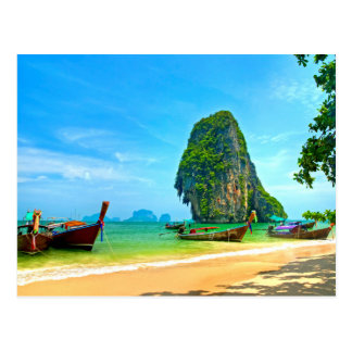 Railay Beach Thailand Postcard