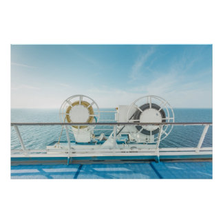 Railing Of A Cruise Ship Poster