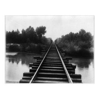 Railroad Bridge 1800's Postcard