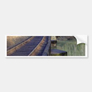 Railroad Bridge Bumper Sticker