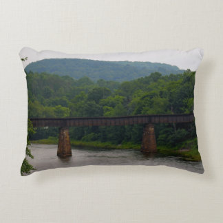 Railroad Bridge Over Susquehanna River Pillow Accent Cushion