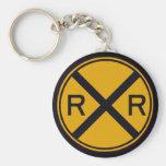 Railroad Crossing Key Chain