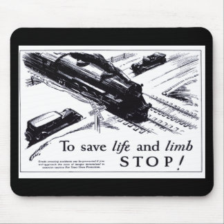 Railroad Crossing Safety 1906 Mousepad