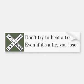 Railroad Crossing Safety Bumper Sticker