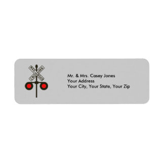Railroad Crossing Sign Return Address Label