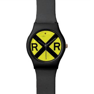 Railroad Crossing Sign Wristwatch