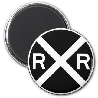 Railroad Crossing Warning Street Sign Train Magnet