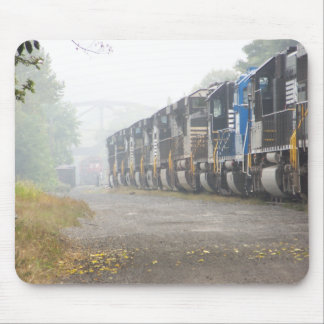 Railroad Locomotives In The Mist Mouse Pad