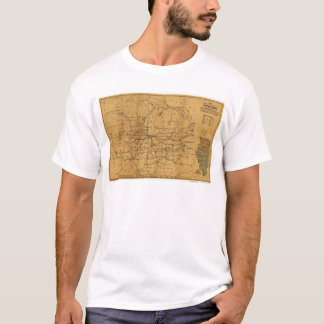 Railroad Map Chicago & Surrounding Midwest c. 1850 T-Shirt