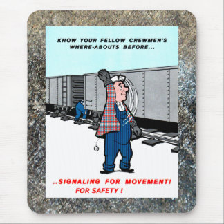 Railroad Safety Comes First Vintage Mouse Pad