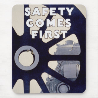Railroad Safety Comes First Vintage Mousepad