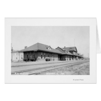 Railroad Station View Card