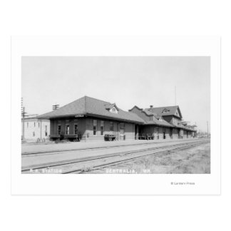 Railroad Station View Postcard