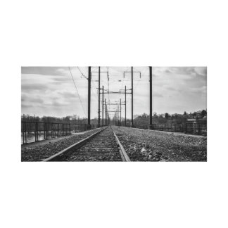 Railroad Track Photography | Industrial Photo Canvas Print