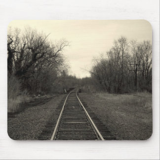 RailRoad Tracks B&W Mousepad