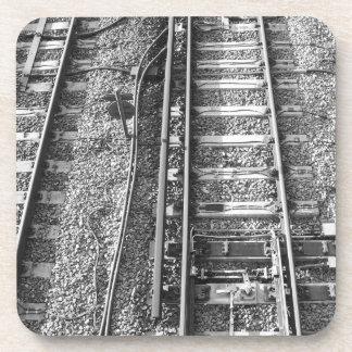 Railroad Tracks, Black and White Picture. Coaster