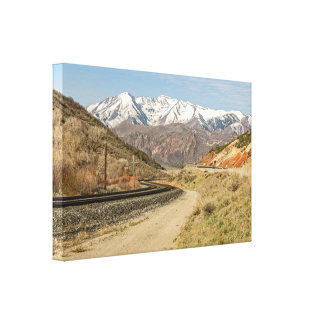 Railroad Tracks with an S-Curve Canvas Print