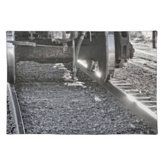 Railroad Train Car Wheels Hitting the Tracks Placemat