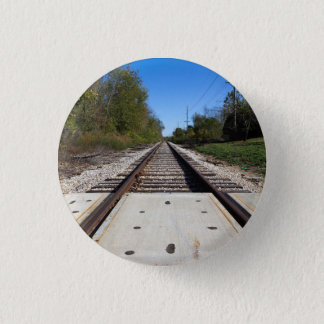 Railroad Train Tracks Photo 3 Cm Round Badge