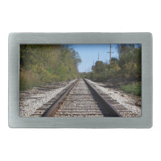 Railroad Train Tracks Photo Belt Buckles