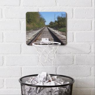 Railroad Train Tracks Photo Mini Basketball Hoop
