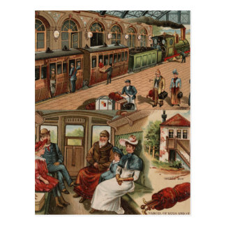 Railroad Travel Postcard