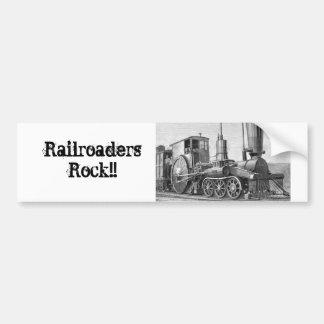 Railroaders Rock! Bumper Sticker