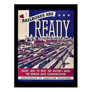 Railroads Are Ready Postcard
