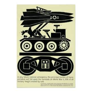 Railroads Moved 90% of all Freight in World War 2 Poster