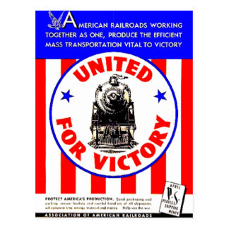 Railroads United For War Effort 1940 Postcards
