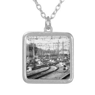 Rails way silver plated necklace