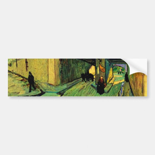 Railway Bridge over Avenue Montmajour by van Gogh Bumper Sticker
