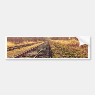 Railway Car Bumper Sticker