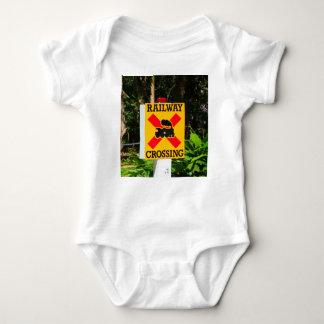 Railway crossing sign baby bodysuit
