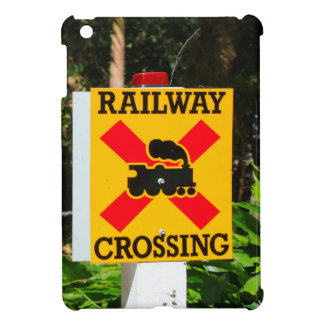 Railway crossing sign iPad mini case
