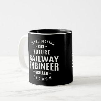 Railway Engineer Two-Tone Coffee Mug