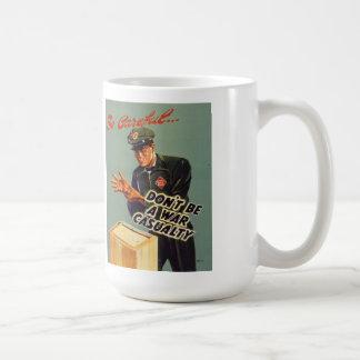 Railway Express 1940 Safety Poster Coffee Mug