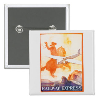 Railway Express Agency 1935 15 Cm Square Badge