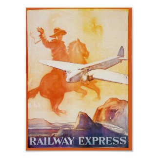 Railway Express Agency 1935 Poster