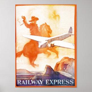 Railway Express Agency 1935 Poster Print