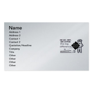 Railway Express Agency 1959 Pack Of Standard Business Cards