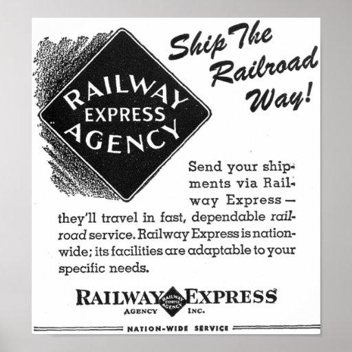 Railway Express - Ship The Railroad Way Poster