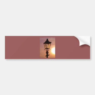 RAILWAY LANTERN SUNSET Bumper Sticker
