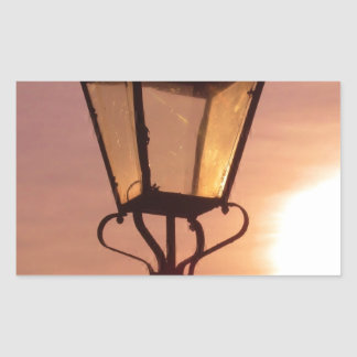 RAILWAY LANTERN SUNSET Rectangle Sticker
