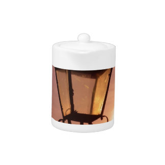 RAILWAY LANTERN SUNSET Teapot