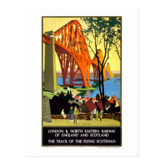 Railway of England and Scotland Vintage Poster Postcard
