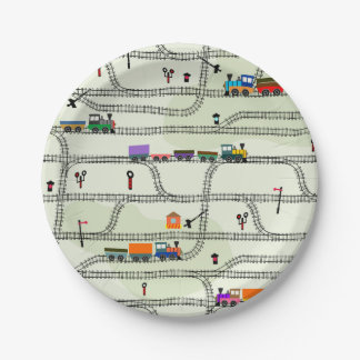 Railway Paper Plate
