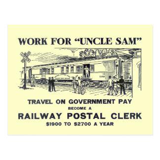 Railway Postal Clerk 1926 Postcards