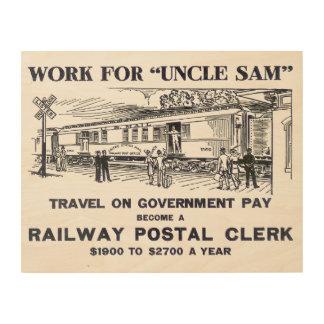 Railway Postal Clerk 1926 Wood Canvases