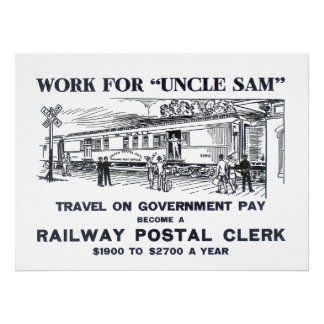 Railway Postal Clerk Poster 1926